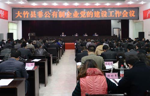 大竹县召开非公有制企业党的建设工作会议